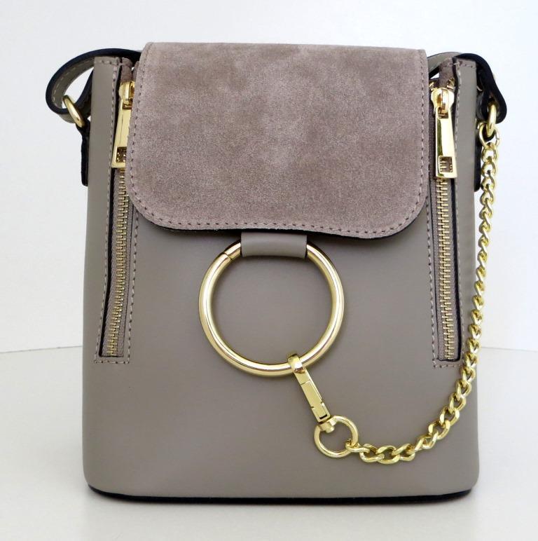 Жіноча маленька сумочка . Італія 100% натуральна шкіра . Сіра, фото 1