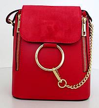 Жіноча маленька сумочка . Італія 100% натуральна шкіра . Червона