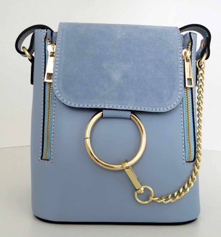 Жіноча маленька сумочка . Італія 100% натуральна шкіра . Голуба ... b254b131449e8