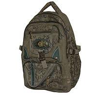 Рюкзаки с брезента для школьников и студентов фабричный пошив  16501-1