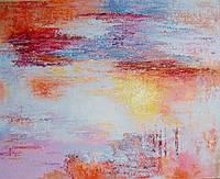 """Картина на холсте """"Закат"""" абстракция"""