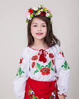 Нарядная детская вышиванка для девочки. Размеры 104- 134.