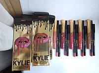 Набор Kylie 4в1-матовая помада, карандаш для губ, карандаш для глаз, точилка