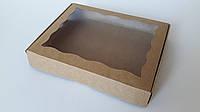 Коробка для кондитерских изделий 20х30х3 см Крафт