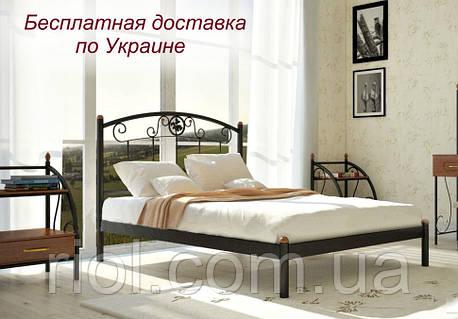 Кровать металлическая Монро двуспальная
