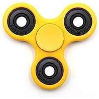 Спиннер металл жёлтый Crazy Spinner в коробке