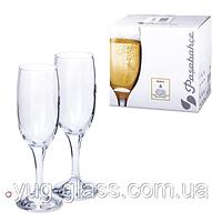 """Набор бокалов для шампанского 190 мл """"Bistro 44419"""" Pasabache 6 шт., фото 1"""