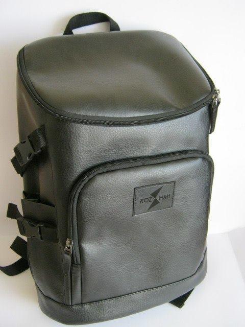 Городской рюкзак из эко кожи Rozmah RL-3, черный 19 л
