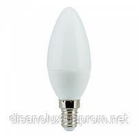 Светодиодная лампа C 37  B35 6W E14 3000K, фото 2