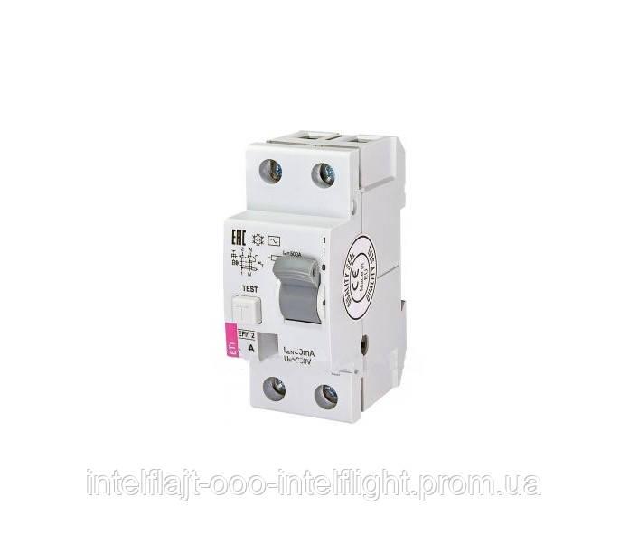 Реле дифференциальное (УЗО) ETI EFI6-2 63/0,03 тип AC (6kA)