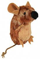 Игрушка Trixie Mouse with Sound для кошек плюшевая с пищалкой, 8 см
