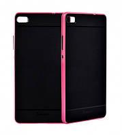 Чехол накладка IPAKY TPU + бампер PC для Huawei P8 розовый