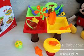 Игровой набор столик песочница для детских игр с водой и песком