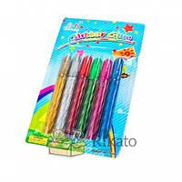 """Клей с блёстками """"Glitter Glue"""", 6 цветов (упаковка: блистер), 54 шт./уп., код 7300"""