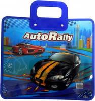 Папка портфель FC пластиковый 350 микрон AUTO RALLY, код 7884