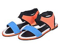 Босоножки Vices 775-11 Синий, оранжевый