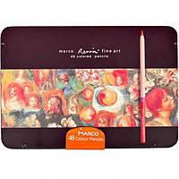 """Карандаши цветные """"Marсo"""" 48 цветов в металлическом пенале  Fine Art-48TN"""