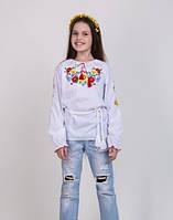 Вышиванка для девочки на длинный рукав.