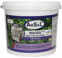 Краска для стен и потолков интерьерная Wet ArSal, 1л