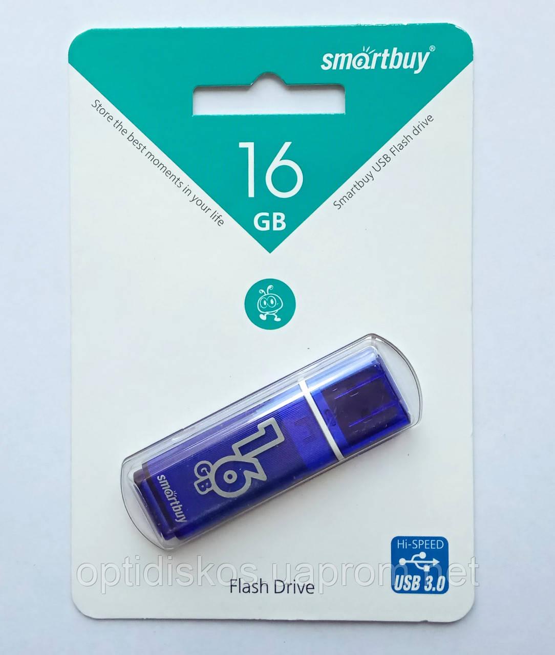 Флешка Smartbuy USB 3.0, 16GB Glossy series Dark Blue