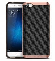 Чехол накладка IPAKY TPU + бампер PC для Xiaomi MI5 MI5 Pro розовое золото