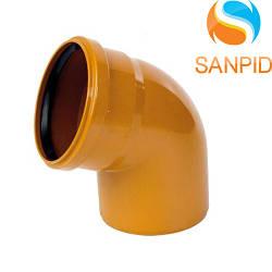 Колено для наружной канализации Wavin 160/67°