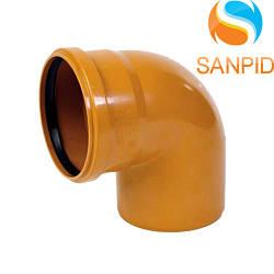 Колено для наружной канализации Wavin 160/90°