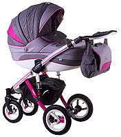 Детская коляска универсальная 2 в 1 Adamex Aspena Grand Prix Collection Pink - White 7 Адамекс Аспена
