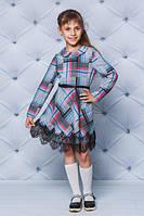 Красивое, школьное, модное шерстяное платье на девочку рост - 122, 128, 134, 140, 146, 152