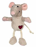 Игрушка Trixie Mouse для кошек плюшевая, с сердечком, 11 см