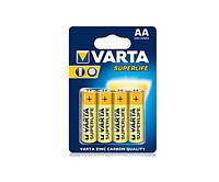 Батарейка AA (R6), солевая, Varta SuperLife, 4 шт, 1.5V, Blister (02006101414)