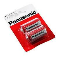 Батарейка C (R14), солевая, Panasonic Red Zink, 2 шт, 1.5V, Blister (R14REL/2BPR)