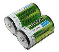 Батарейка D (LR20), щелочная, Videx Excellent!, 2 шт, 1.5V, Shrink (LR2O/D 2pcs SHRINK)