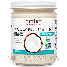 Nutiva, Органічна кокосова манна, пюре з кокоса, (425 р)
