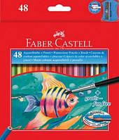 Цветные акварельные карандаши на 48 цветов в картонной упаковке,арт.114448 Faber Castell