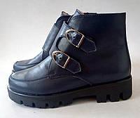 Зимние женские ботинки натуральный кожа зима 2018 года