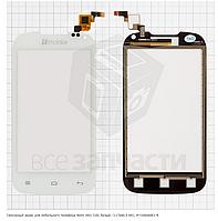 Сенсор, тачскрин телефона Nomi i401 Colt, белый, (117x60,5 мм), Y106060E1-R