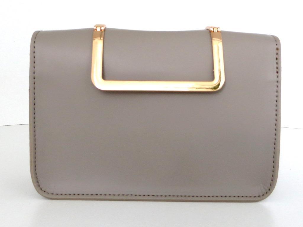 Жіноча сумочка - клатч . Італія 100% натуральна шкіра . Сіра