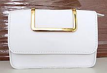 Жіноча сумочка - клатч . Італія 100% натуральна шкіра . Біла