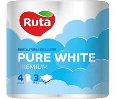 Акція -20% Туалетная бумага Ruta Pure White, 150 листов, 4 рулона