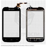 Сенсор, тачскрин телефона Nomi i401 Colt, черный, (117x60,5 мм), Y106060E1-R