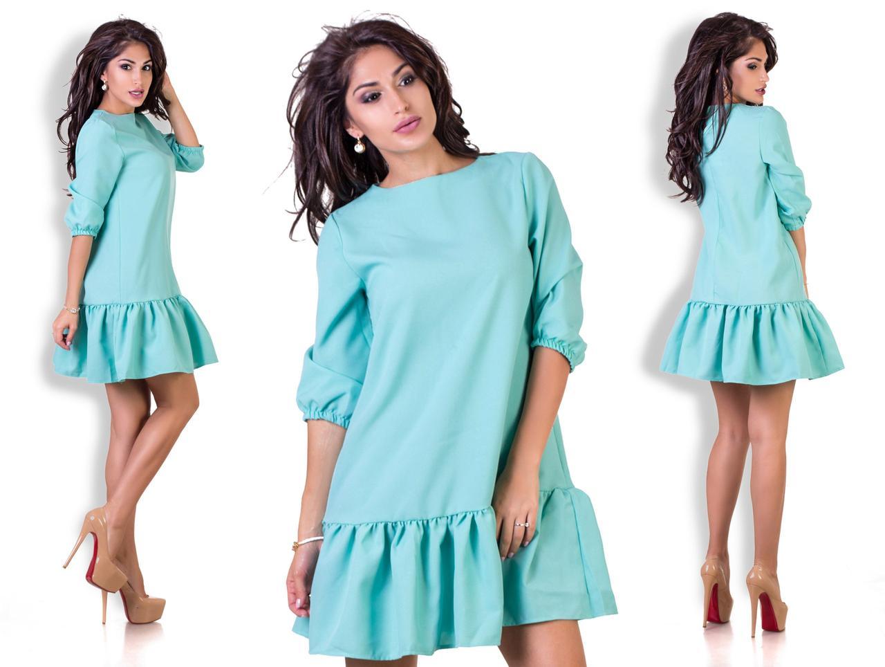 358a566c7db Женское свободное платье с рюшами -