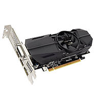 Видеокарта GeForce GTX1050Ti OC, Gigabyte, 4Gb DDR5, 128-bit, DVI/2xHDMI/DP, 1442/7008 MHz, Low Profile (GV-N105TOC-4GL)