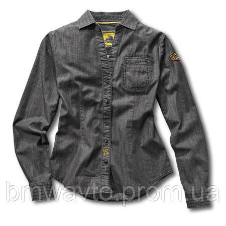 Женская рубашка BMW Motorrad Ladies Roadster Shirt, Grey Denim
