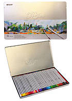 Цветные карандаши 36 цветов Marco 7120-36TN акварельные в металлической коробке.