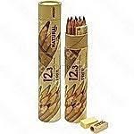 Карандаши цветные Marco Natural-Cedarlite 12 цветов FM6810-15CY +3 простых карандаша+точилка+линейка