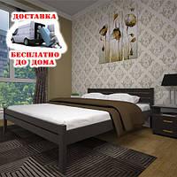 Кровать Тис Классика, сосна, 140х200см. Бесплатная адресная доставка по Украине.