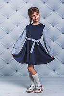 Платье школьное с т.синее