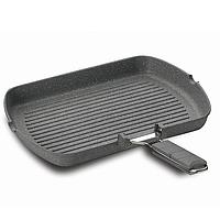 Сковорода - гриль для рыбы с гранитным покрытием 34x24 см FineCast Korkmaz A1499