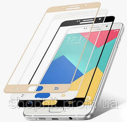 Защитное стекло для Samsung Galaxy A3 A320 2017 цветное Full Screen